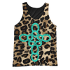 Image of TURQUOISE, BLACK AND ANIMAL PRINT TANK