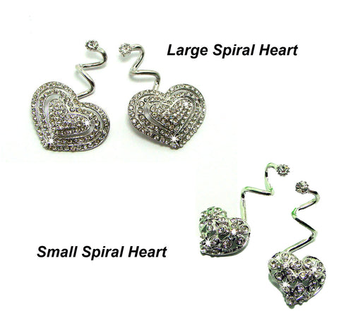 LuxFeet Spiral Flip-Flop Jewelry Decorations Charms Conchos Bling Crystal-Rhinestone