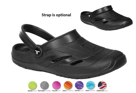 Telic UNISEX VOTED BEST COMFORT SHOE Arch Support Dream Mule Clog Sandal ***                                                         Black Only