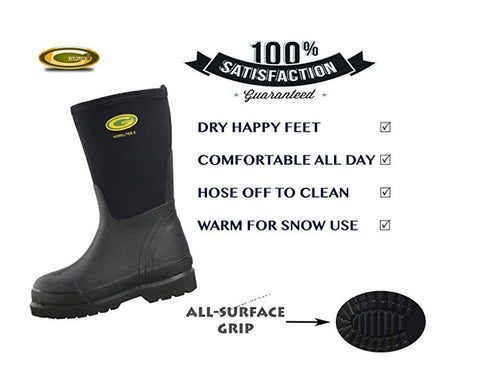 BOB Poncho Raincoat & Grubs Mid-Height Waterproof Boots