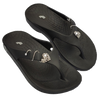 Image of LuxFeet Unisex Orthopedic Arch Support Flip Flops Adorned with Shoe Charms (Shoe Jewelry, Shoe Conchos)