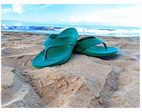 Unisex ArchSupport Flipflops | Pain Relief Comfort Technology TURQUOISE RAIN