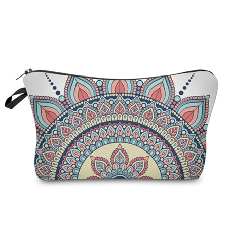 3D MULTICOLOR VINTAGE COSMETIC BAG