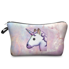 3D EMOJI UNICORN COSMETIC BAG