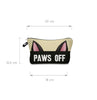 Image of 3D CAT EAR PAWS OFF COSMETIC BAG