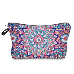 3D COLORFUL FLOWER COSMETIC BAG