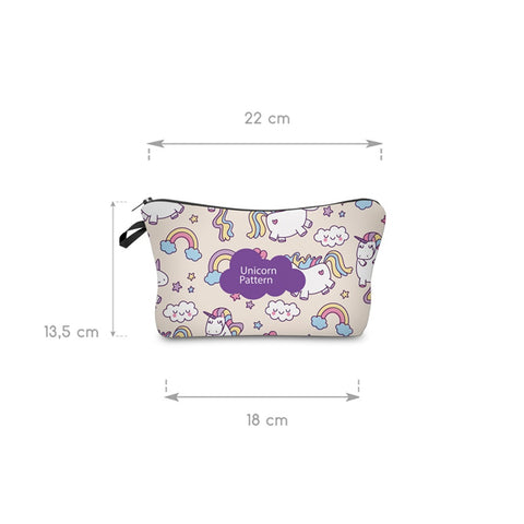 3D UNICORN PATTERN COSMETIC BAG