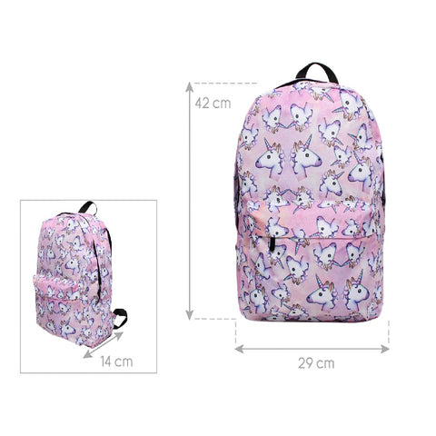 3PCS PINK UNICORN BAG SET