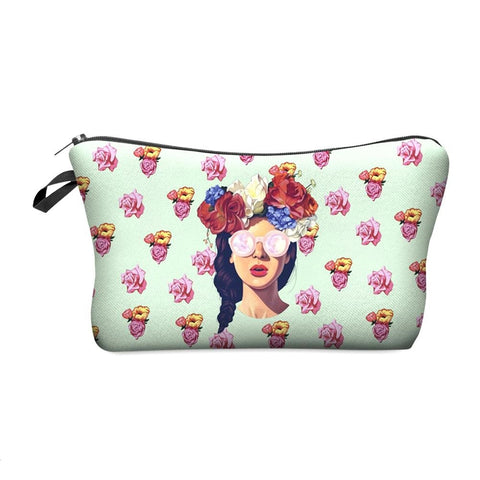 3D HIPSTER GIRL COSMETIC BAG
