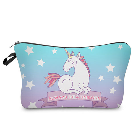ALWAYS BE A UNICORN COSMETIC BAG