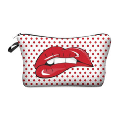 3D LIP BITE COSMETIC BAG