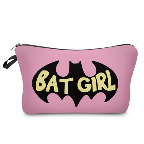 3D BAT GIRL COSMETIC BAG