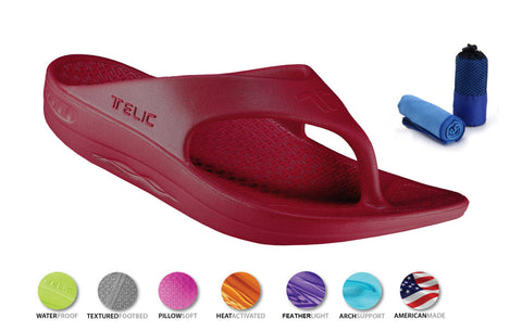 Telic Unisex VOTED BEST COMFORT SHOE Arch Support Flipflop Sandal *** Variety of Colors Available