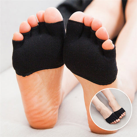 5 Toes Breathable Cotton Sponge Half Insoles Pads