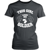 Image of GIRL LOVES SOLDIER LADIES' T-SHIRT