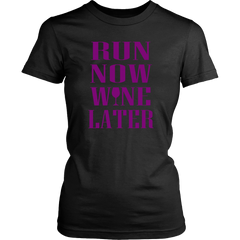 WINE LATER LADIES' T-SHIRT