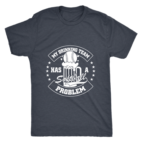 SOFTBALL MEN'S FITTED T-SHIRT