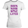 Image of WINE LATER LADIES' T-SHIRT