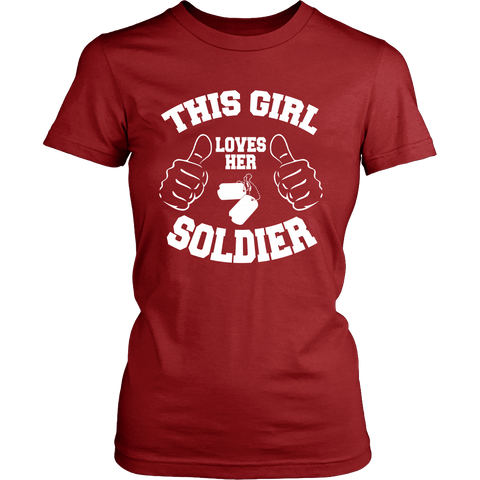 GIRL LOVES SOLDIER LADIES' T-SHIRT