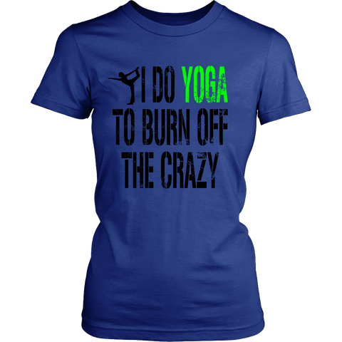 YOGA CRAZY LADIES' T-SHIRT