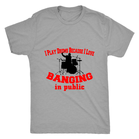 BANGING DRUMS MEN'S T-SHIRT