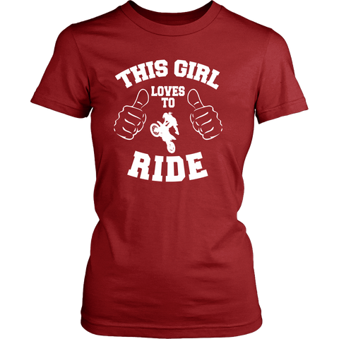 LOVES TO RIDE LADIES' T-SHIRT