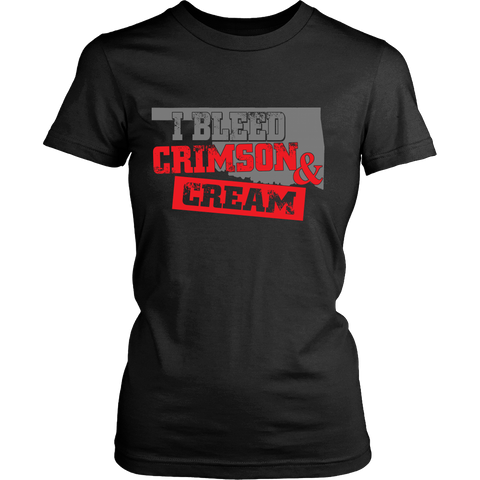 CRIMSON CREAM LADIES' T-SHIRT