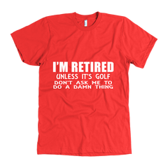 RETIRED GOLF MEN'S T-SHIRT