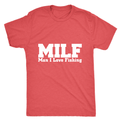 I LOVE FISHING MEN'S FITTED T-SHIRT
