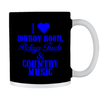Image of COWBOY BOOTS PICKUP TRUCKS WHITE MUG