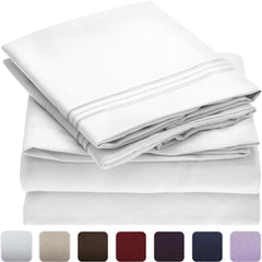 Solid Bed Sheet Sets
