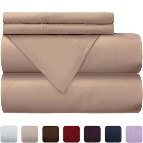 100% Cotton Bed Sheet Set  -  300 Thread Count Sateen