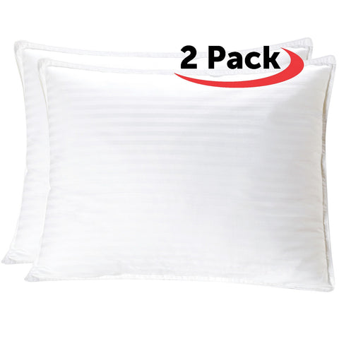 Plush Gel-Fiber Filled Pillows