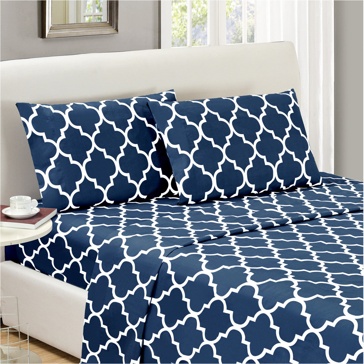 quatrefoil sheet set  mellanni fine linens -  quatrefoil sheet set