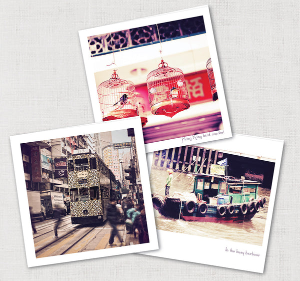 Set of 6 Hong Kong Cards