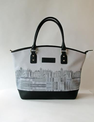SooqCentral:Skyline Leather Tote Bag