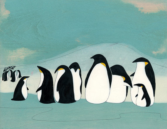 SooqCentral:Penguin Colony - Signed Art Print