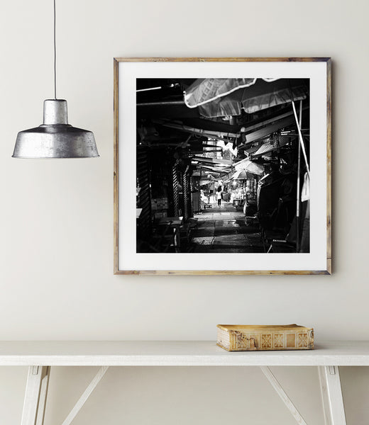 SooqCentral:Hong Kong Alleyway - Black & White Print