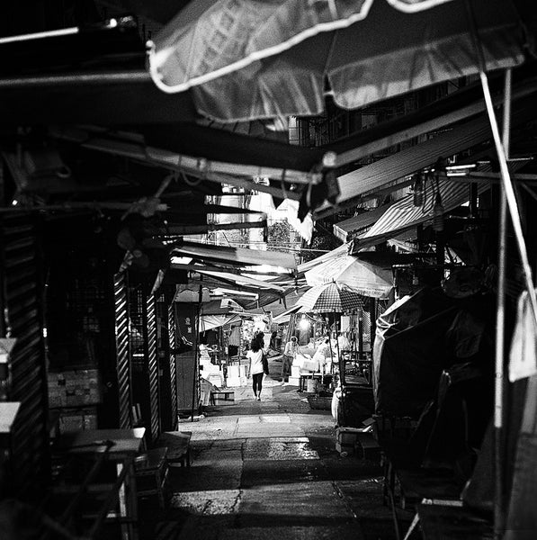 Hong Kong Alleyway - Black & White Print