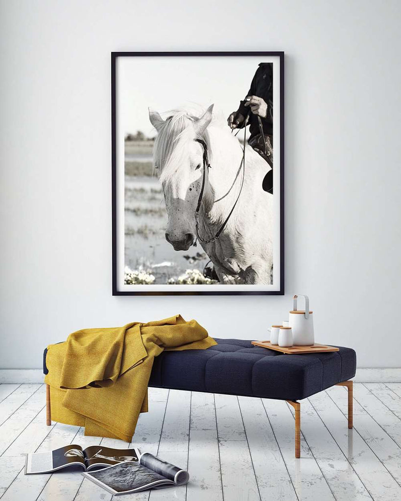 SooqCentral:Camargue Horse and Rider - Photography Print