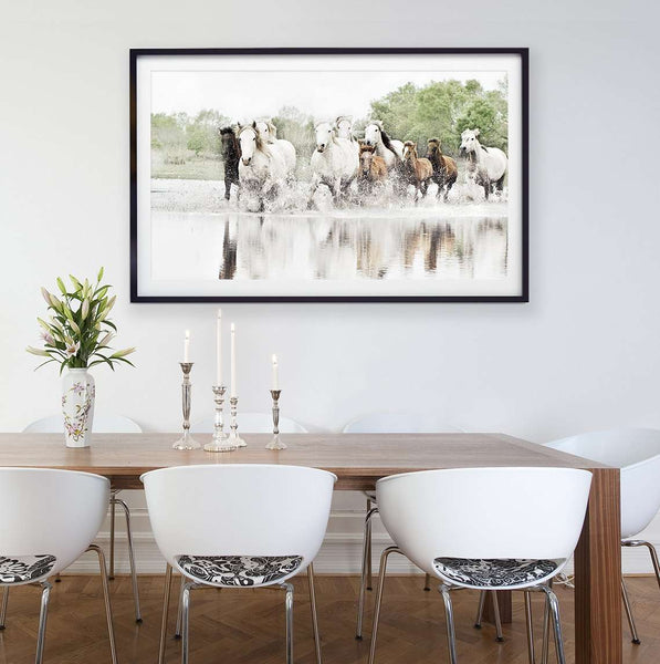SooqCentral:Camargue Horses Photography Print
