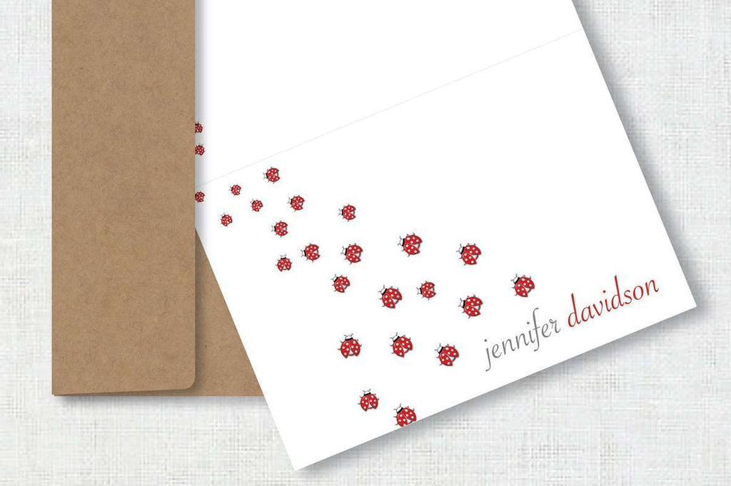 SooqCentral:10 Personalised Cards (ladybirds)
