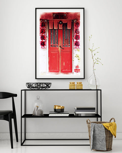 Hong Kong Red Door Art print