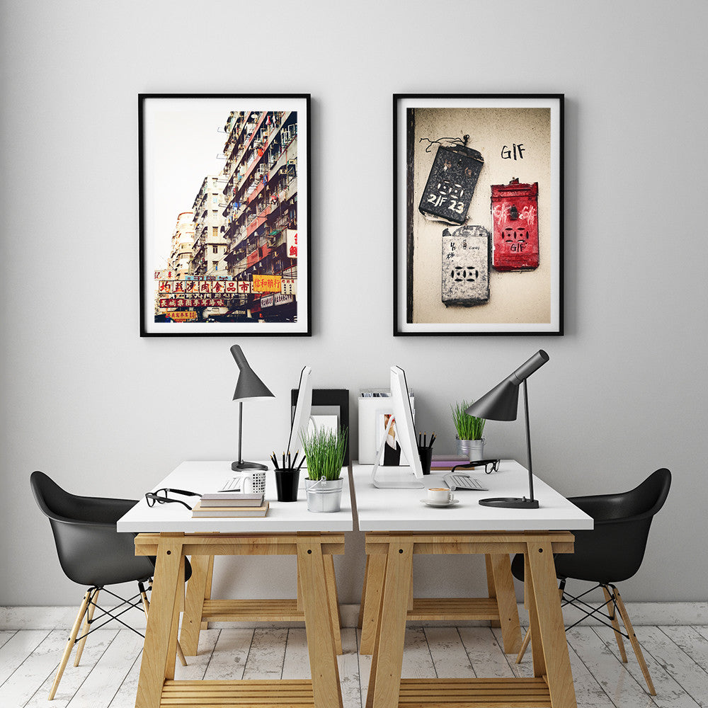 Post boxes & Sham Shui Po Set of 2 Prints