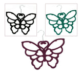 Black Butterfly Scarf Hanger with a flocked non slip coating