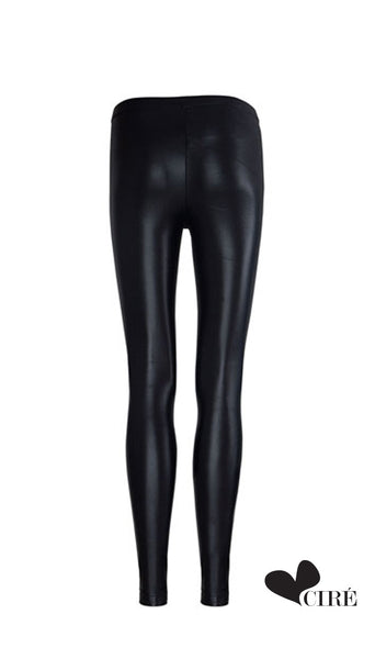 Shiny Black Legging