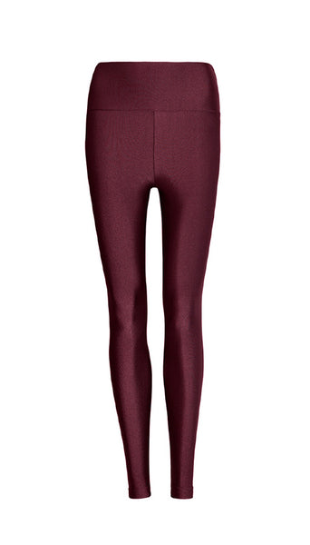 High Waist Burgundy Legging