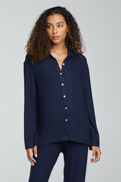 Lori Button Down - Navy