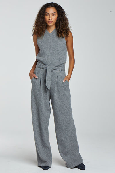 PRE-ORDER - Sienna High Waist Trouser - Heather Grey