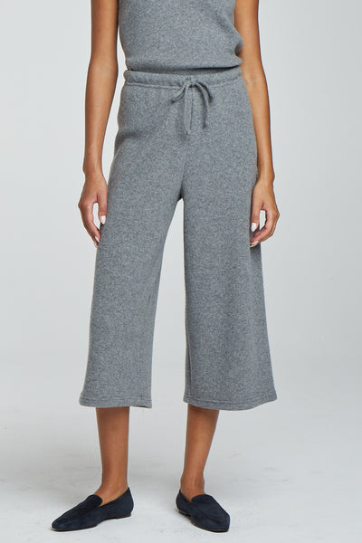 Sienna Drawstring Gaucho - Heather Grey